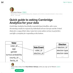 Quick guide to asking Cambridge Analytica for your data