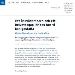 Ett åskvädersbarn och ett helvetesgap lär oss hur vi kan gestalta · Annika Sjödahl