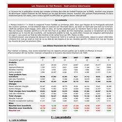 ASMFoot.fr - Les finances de l'AS Monaco