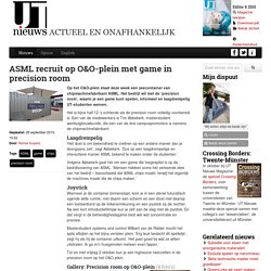 ASML recruit op O&O-plein met game in precision room
