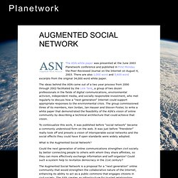The Augmented Social Network
