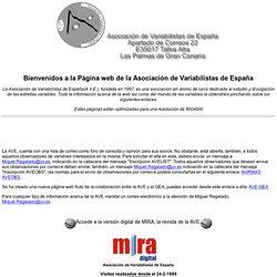 ASOCIACIÓN DE VARIABILISTAS DE ESPAÑA