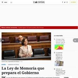 La Ley de Memoria que prepara el Gobierno permitirá ilegalizar asociaciones franquistas