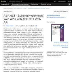ASP.NET - Building Hypermedia Web APIs with ASP.NET Web API
