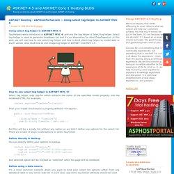 ASP.NET 4.5 and ASP.NET Core 1 Hosting BLOG