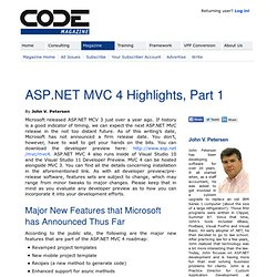 ASP.NET MVC 4 Highlights, Part 1