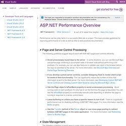 ASP.NET Performance Overview