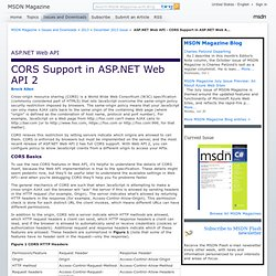 ASP.NET Web API - CORS Support in ASP.NET Web API 2