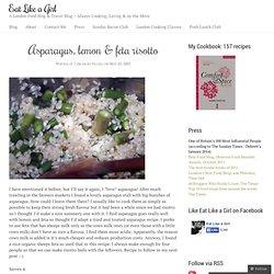 Asparagus, lemon & feta risotto