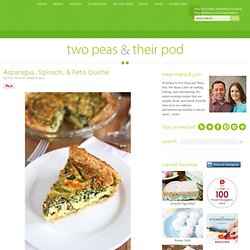 Asparagus, Spinach, & Feta Quiche Recipe