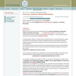 Aspartame et Glutamate Monosodique