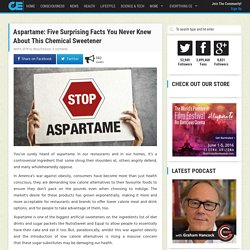 Aspartame: Five Surprising Facts You Never Knew About This Chemical Sweetener