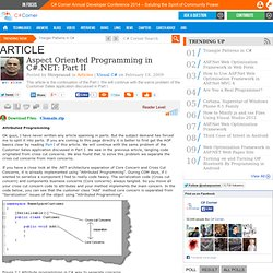 wiki Aspect oriented programming