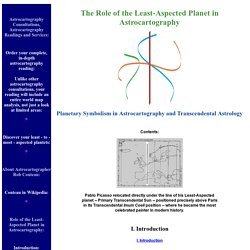 Role of the Least Aspected Planet in Astrocartography
