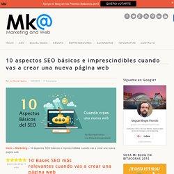 10 aspectos SEO básicos al crear una nueva página web