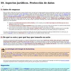 10. Aspectos jurídicos. Protección de datos