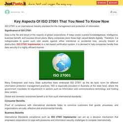 Key Aspects Of ISO 27001 That You Need To Know Now