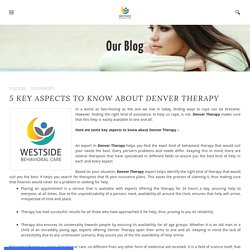5 Key Aspects to know about Denver Therapy - MY SITE