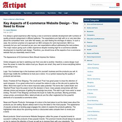 Key Aspects of E-commerce Website Design - You Need to Know