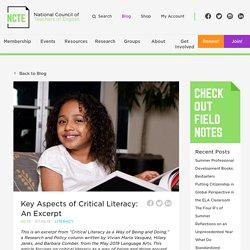 Key Aspects of Critical Literacy: An Excerpt - NCTE
