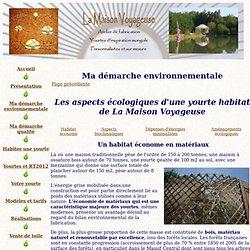 Aspects écologiques de la yourte habitat