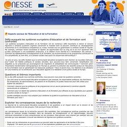 Aspects sociaux de l'Education et de la Formation — NESSE