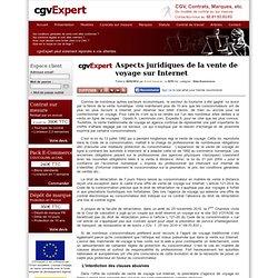 Aspects juridiques de la vente de voyage sur Internet
