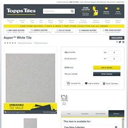 Aspen™ White Tile