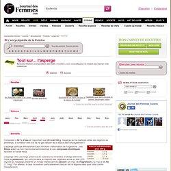 ASPERGE : tout sur l'asperge, recettes, saison de l'asperge sur Journal des Femmes Cuisine