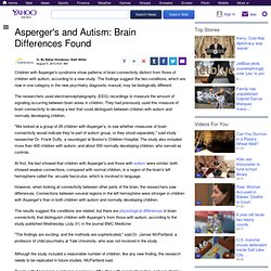 Asperger's and Autism: Brain Differences Found