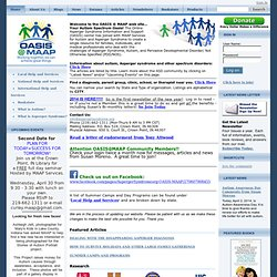The Online Asperger Syndrome Information and Support Center