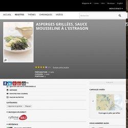 Asperges grillées, sauce mousseline à l'estragon