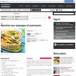 Quiches aux asperges et parmesan - une recette Végétarien