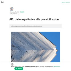 AD: dalle aspettative alle possibili azioni – DidatticaMediale – Medium