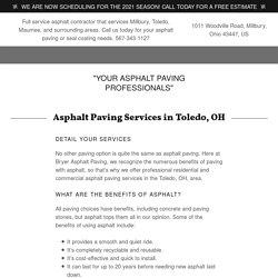 Asphalt Paving in Toledo, OH
