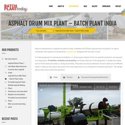 Asphalt Plant Manufacturers