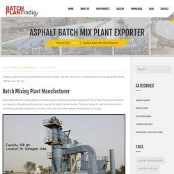 Asphalt Mixer Exporter