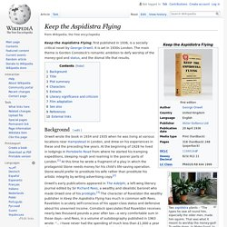 Keep the Aspidistra Flying - Wikipedia