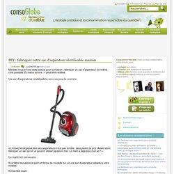 DIY : fabriquez votre sac d'aspirateur réutilisable maison