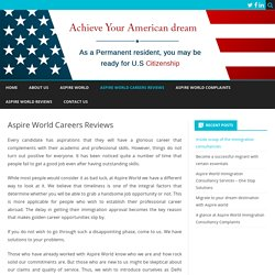 Aspire World Careers Reviews – Aspire World