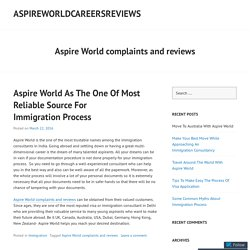 Aspire World Complaints And Perfect Solution