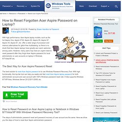 How to Reset Acer Aspire Password on Laptop in Windows
