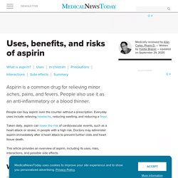 Aspirin: Health benefits, uses, risks, and side effects
