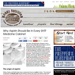 Why Aspirin Should Be In Every SHTF Medicine Cabinet