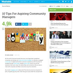 10 Tips For Aspiring Community Managers