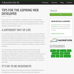Tips for the Aspiring Web Developer · A Beautiful Blog