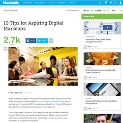 10 Tips for Aspiring Digital Marketers