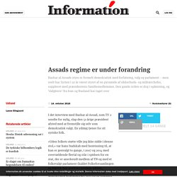 Assads regime er under forandring