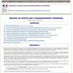 Recueil de textes sur l'assainissement communal