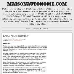 EAU et ASSAINISSEMENT - MaisonAutonome.com